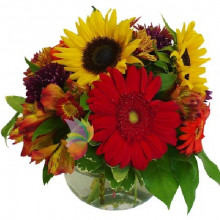 immagine Fall mixed flowers bouquet