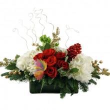 immagine Centerpiece red and white