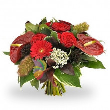 immagine Bouquet of red  and orange flowers