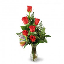immagine Bouquet of six red roses