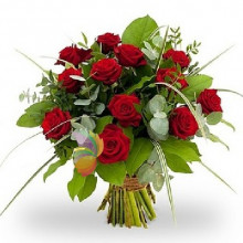 immagine Bouquet of 12 red roses
