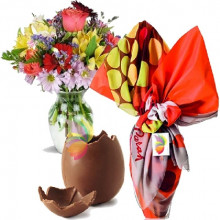 immagine Mixed colored bouquet and Easter Egg